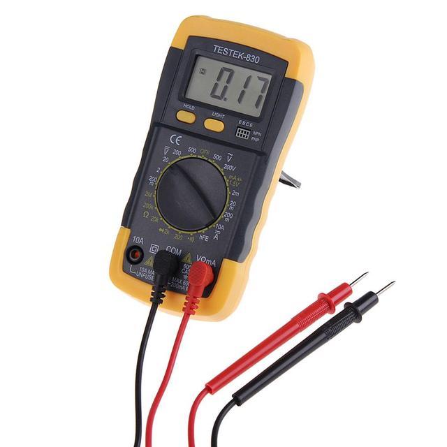Electrical LCD Digital Multimeter AC DC Voltmeter Ohmmeter Multitester for schools, factories, families  amateur wireless lovers