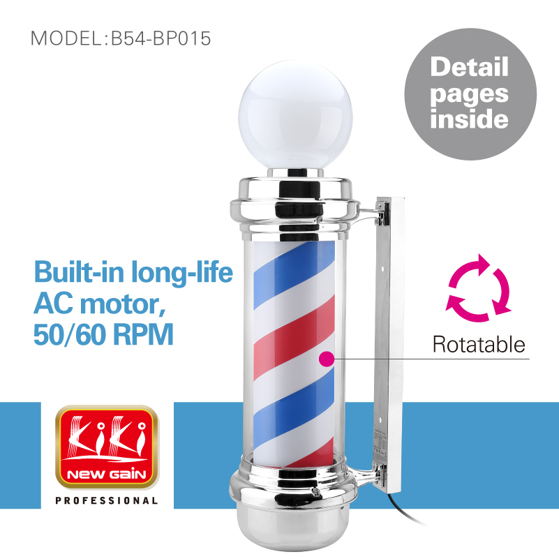 337D.small size autorotation Barber Pole.with lamp.Professional barber Salon Equipment.Barber Sign.popular barber producs(China (Mainland))