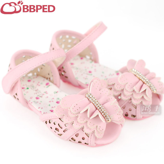 Bbped summer female cutout large butterfly baby shoes