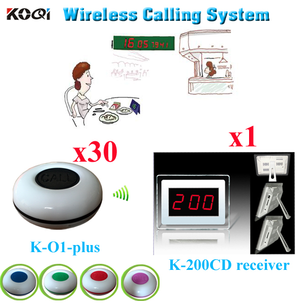 Wireless Ordering System Cheap Restaurant Service To Call Waiter For Customer Service(1 display 30 waterproof call button)(China (Mainland))