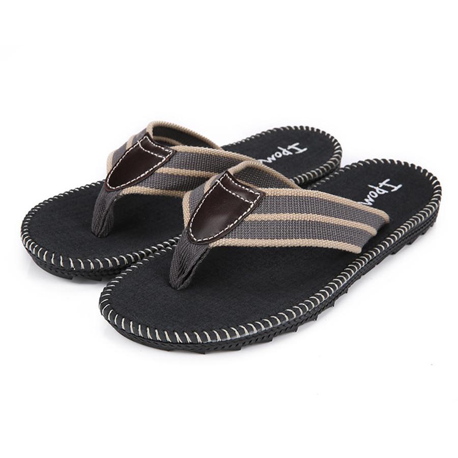 European sandals shoes - European Style Men S Summer Shoes Beach Home Flip Flops Vintage Slippers Casual Shoes Black High Quality