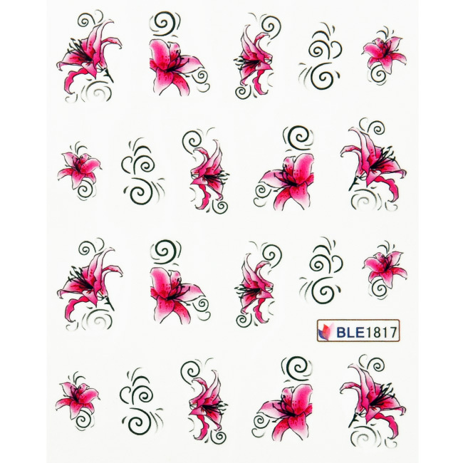 Гаджет  Hot Sale flower partten water transfer Nail Art Stickers Decals For Nail Tips Decoration DIY Decorations None Красота и здоровье