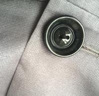 осень зима серая ветровка длинные пальто и пиджаки над пальто размер m l кнопки и карман передней накладки двойной грудью