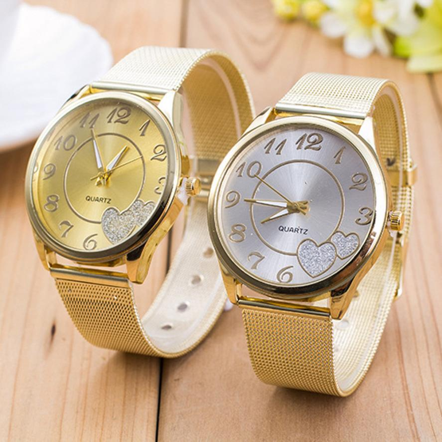 Гаджет  Attractive Gold Plated Lovely Fashion Women Ladies Watch Gold Mesh Band Wristwatch OT22 None Часы