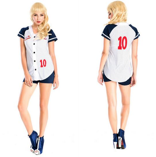 Sexy Fantasias Femininas Deguisement Adultes Cosplay Table Tennis Players Costumes Sexy Baseball Uniform Stage Costumes CE245(China (Mainland))