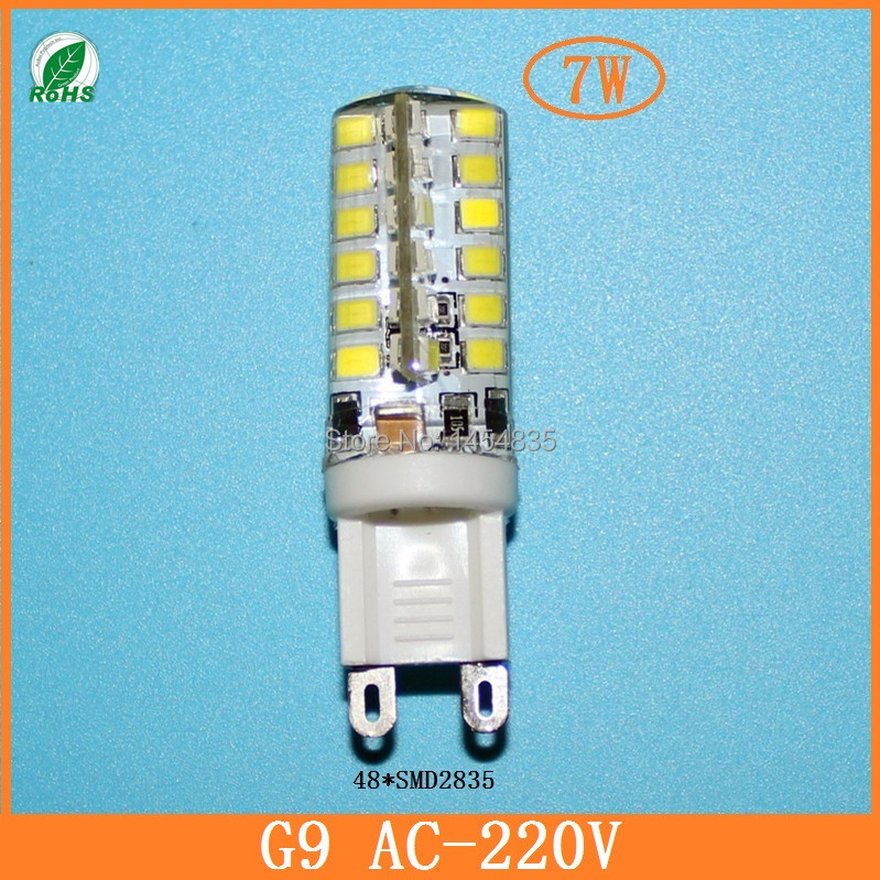 10pcs Led mini G9 AC 220V 7W/9W/10W/12W 2835 3014 led Crystal LED bulb Lamp led Silicone Candle Replace 20W-40W halogen lights(China (Mainland))