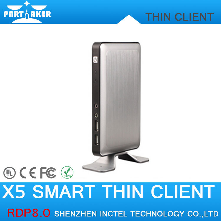 RDP8 Thin Client X5 for Windows MultiPoint Sever and Windows 8 Fanless Cloud Computer VMware USB Printer 720P Online Video(China (Mainland))