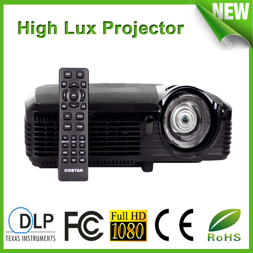Full HD Home Theater Projector DLP 8000 led lumens 18000:1 High Brightness For Daytime Use With Perfect Display Effect(China (Mainland))