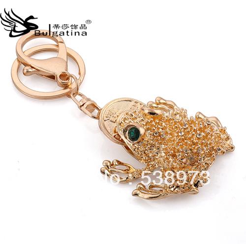 China Wholesale Cheap frogs keychain Hot Sale 2013 frog key chain car keychain male Women key chains KY5060-1 Free shipping!!(China (Mainland))