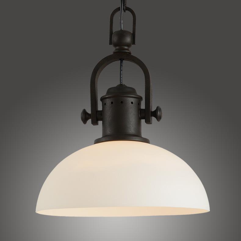Vintage Loft Wrought Iron White Pendant Lights American ...