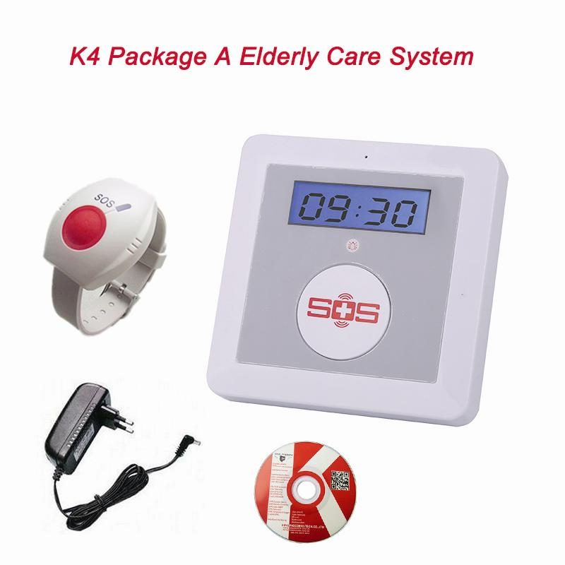 GSM Elderly Care Alarm LCD Display Menu SOS Emergency Call Burglar Security Alarme System Wireless Remote Control for Elder(China (Mainland))