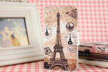 For Nokia Asha 500 501 502 503 515 200 206 208 210 220 225 302 309 311 Paris Eiffel Tower PU Leather Whole Cover Case Skin(China (Mainland))