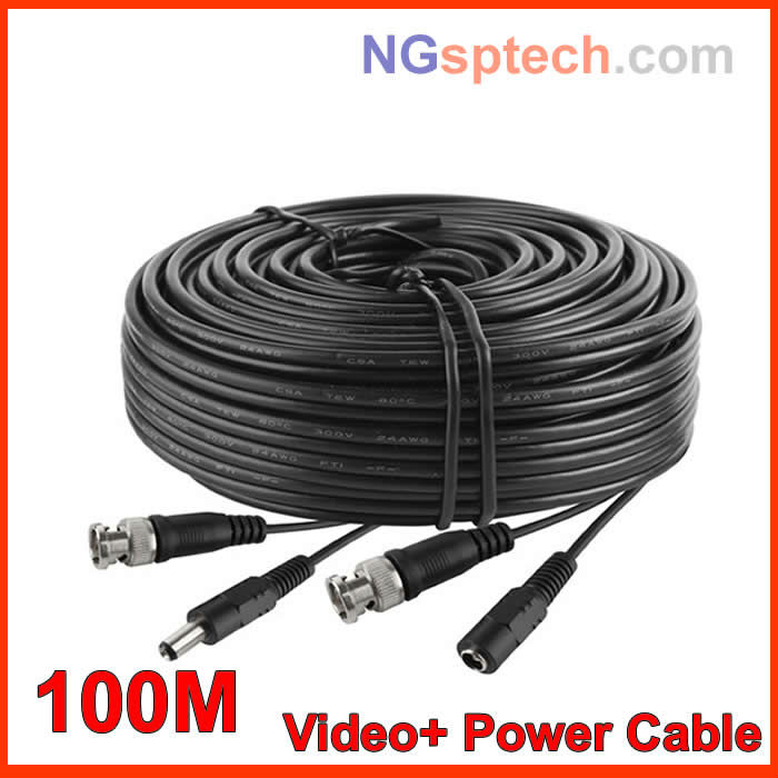 Free shipping100M Video Power Camera Cable BNC cctv accessories RG59, cctv extension cable(China (Mainland))