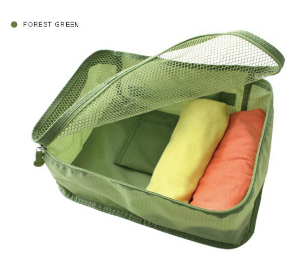 4 colors can choose Small size korean style solid women travel bags, travel bag organizer, bag organizer(China (Mainland))