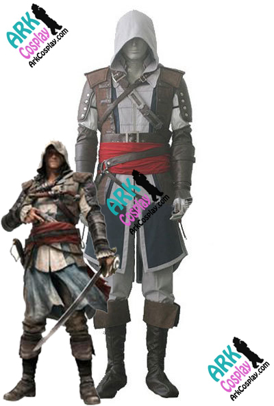 Edward Kenway Costume - Assassins Creed IV 4 Black Flag Edward Kenway Cosplay Assassin Creed Costume