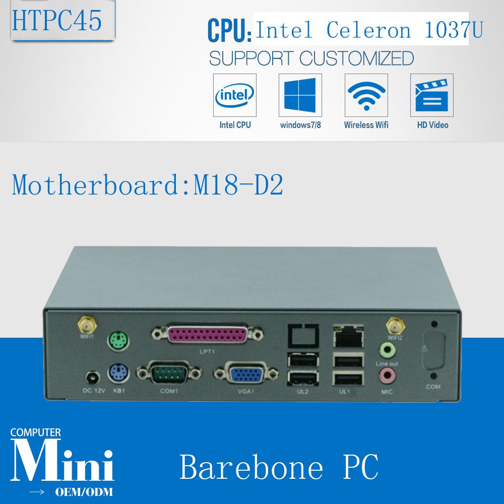 Smallest Win7 HTPC / Thin Client / Mini ITX PC Support ATOM/1037U/Bay Trail series processor 1*VGA/SUPPORTS WIFI/3G Barebone PC(China (Mainland))