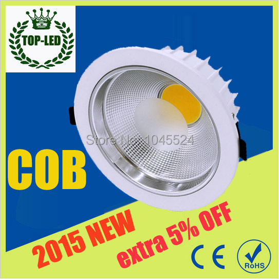 Hot Sale Cob Led Ceiling Lamp 30w 3000 lumens Dimmable Led Downlight 220v 110v White Shell Cob Led Spot Light<br><br>Aliexpress