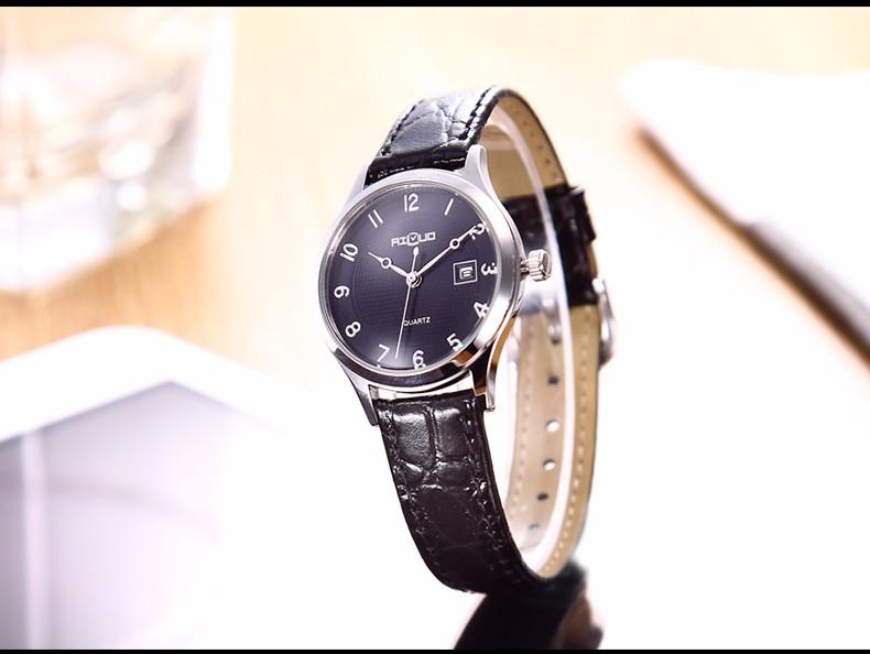 Марка Классическая Мода Влюбленных Часы Повседневная & Бизнес Кварцевые Календарь Ремень Из Натуральной Кожи Наручные Часы