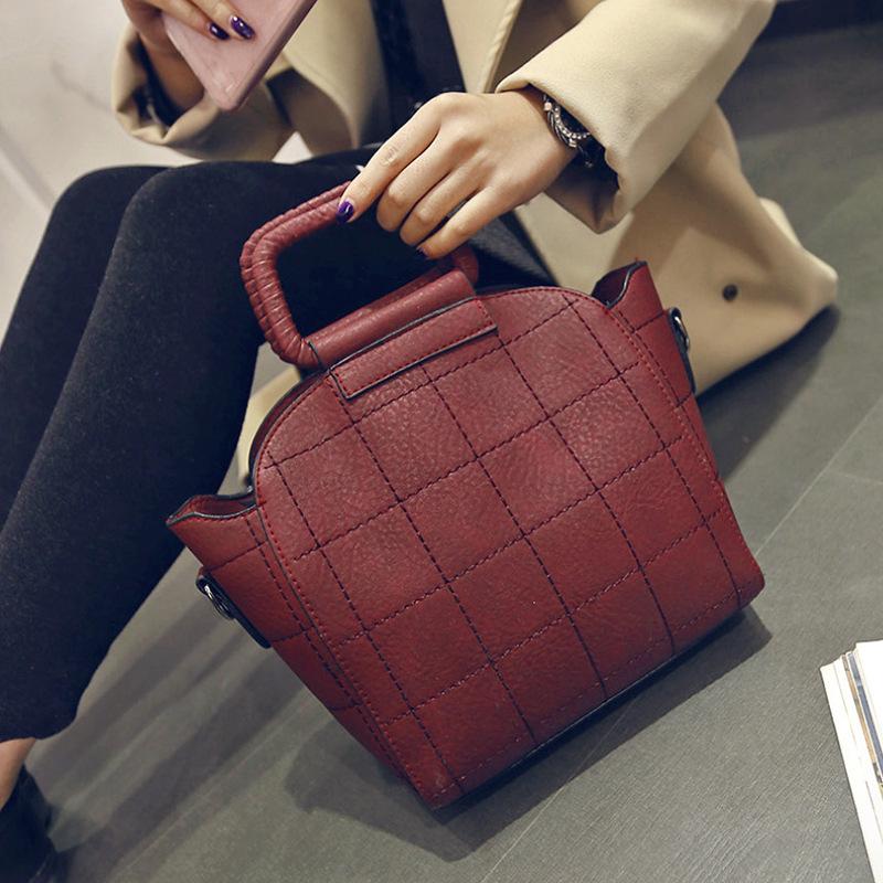 Popular sale Handbag high-end stereotypical ball bag thick fur handbag Korean wild socialite fashion women new style plaid bags<br><br>Aliexpress