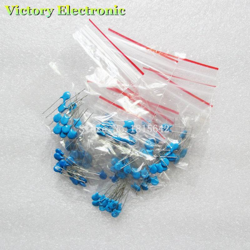 100% New Ceramic Capacitors Combination Kit High Pressure 2KV102K-821K 10Kinds 100PCS/Set Wholesale Electronic(China (Mainland))