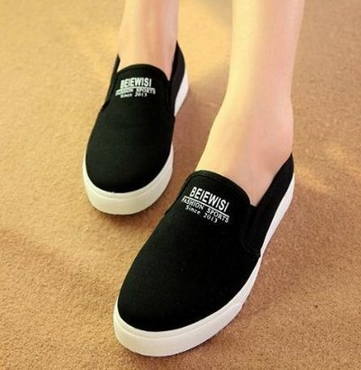 F9265 Women Preppy Low -Top Loafers Student Lazy Flat Canvas Shoes Mama 2015 Size 35-40 - Sandy's Fashion Store store