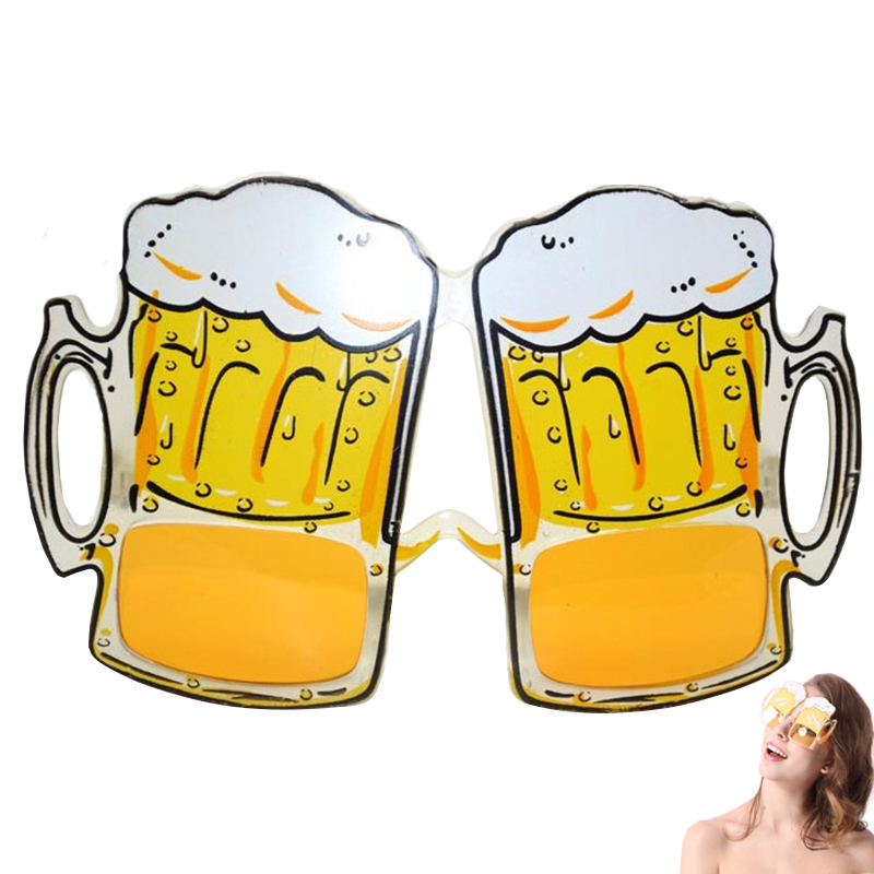 Yellow Beer Glasses HEN PARTY FANCY DRESS New Arrival Beer Goggles Sunglasses Funny Halloween Gift Fashion Accessies WN0372(China (Mainland))