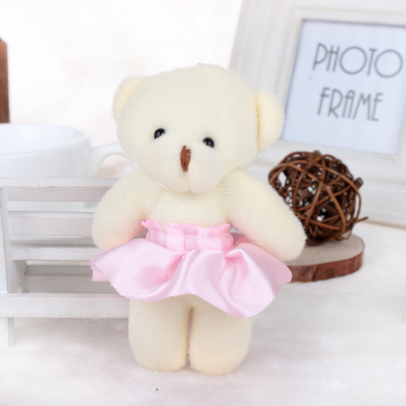 12 cm 12 pcs Flower teddy bear Charm Bear Flower For Girlfriend Valentine's/Birthday/Christmas Gift flower shop material(China (Mainland))