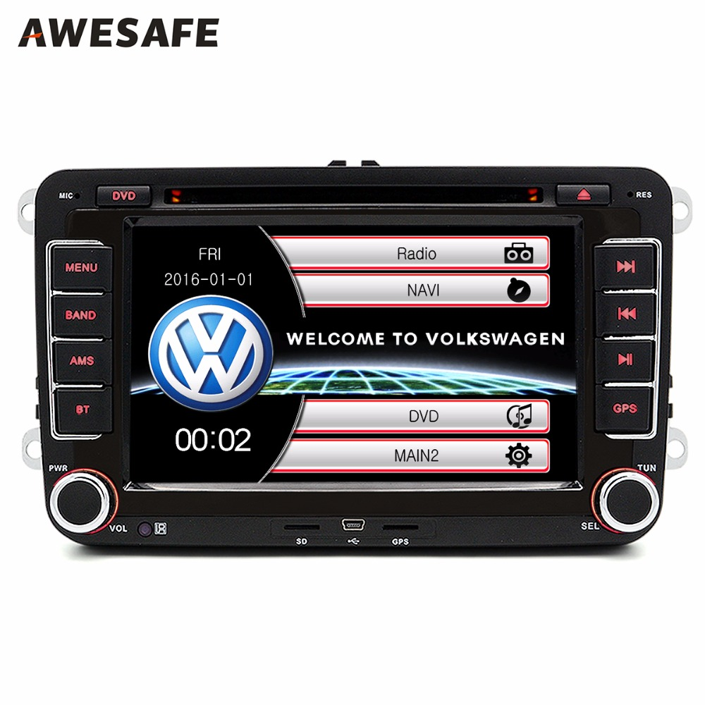 """2 din 7"""" Car GPS DVD radio player For VW/Volkswagen/Passat/GOLF/Skoda/Seat gps audio double din touch screen car stereo(China (Mainland))"""