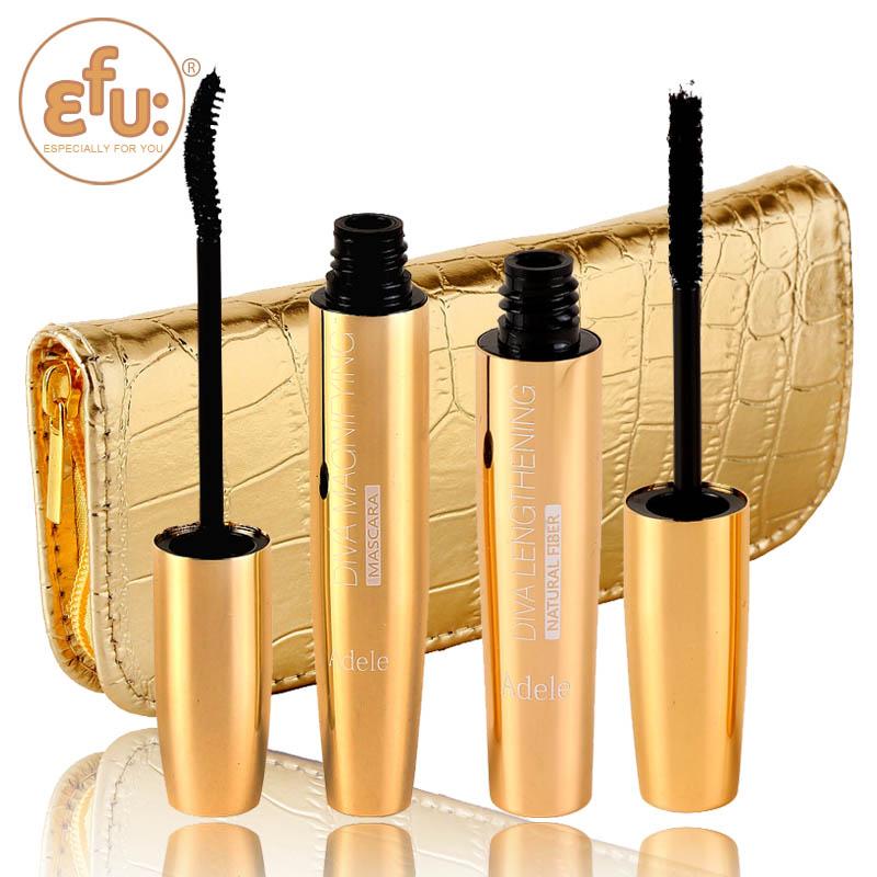 2015 EFU new high quality Adele DIVA Maximum MASCARA Set Makeup lash volumizing eyelash lengthening waterproof make up #7211(China (Mainland))
