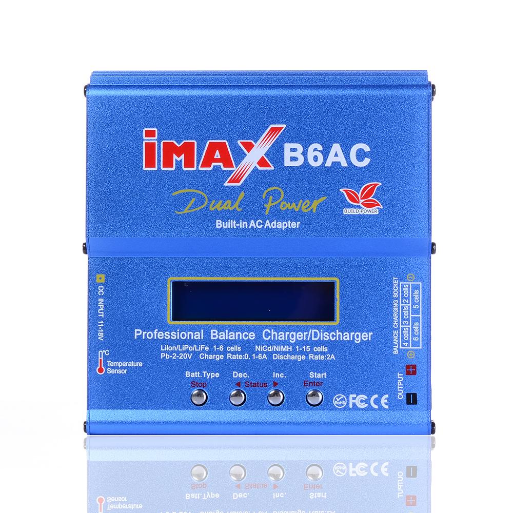 80W IMAX B6AC RC Balance Battery Charger B6 AC Nimh Nicd lithium Battery Balance Charger Discharger with Digital LCD Screen(China (Mainland))