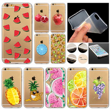 แปลกF Undasโทรศัพท์ที่ครอบคลุมกรณีสำหรับA Pple iPhone 6 6S ผลไม้สับปะรดแตงโมมะนาวซิลิคอนใสC Oque Capaมือถือ