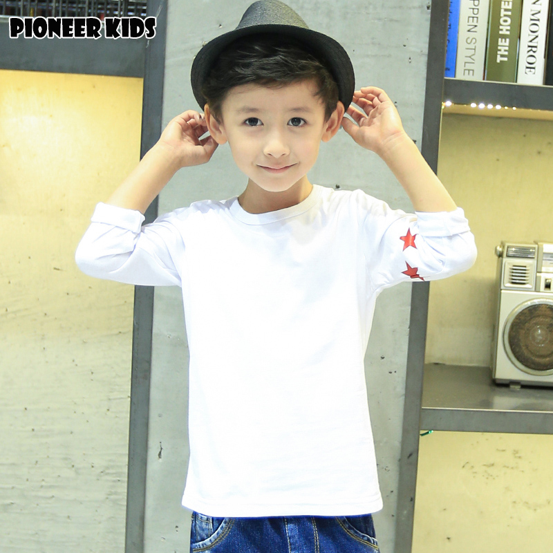 Pioneer Kids boys cotton t-shirt boy t shirt striped long sleeve tops kids clothes autumn new wear for new season(China (Mainland))