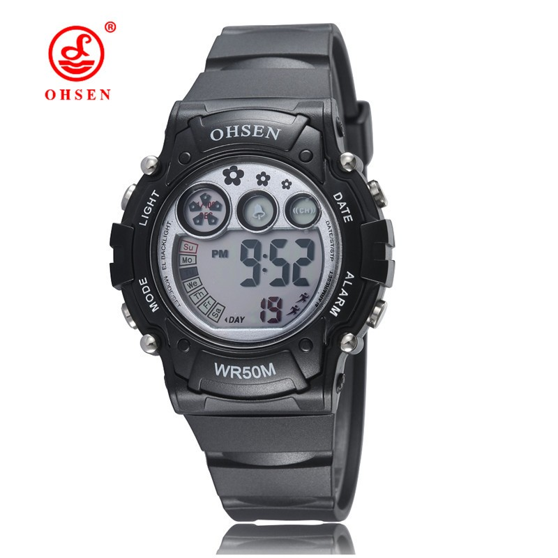 2015 OHSEN Brand Waterproof Watches 6 Multi Color Clock Digital Quartz LED Watch Montre Wristwatch For Women Men Relogio Kids(China (Mainland))