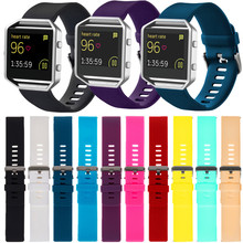 Sport Silicone Watch bands Wrist Strap For Fitbit Blaze Activity Tracker Smart Watch Heart Monitor Watchband