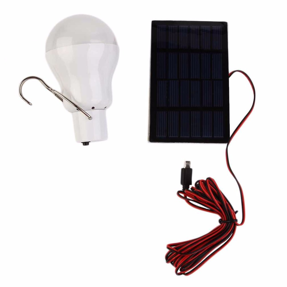 15W 130LM Portable Solar Power LED Bulb Solar Powered Light Charged Solar Energy Lamp Outdoor Lighting Camp Tent Fishing Light(China (Mainland))