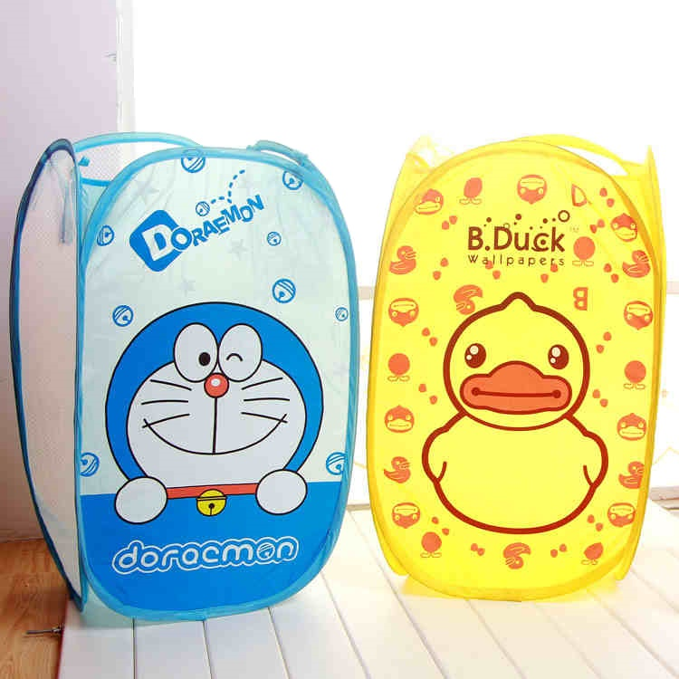 Cute Cartoon Standing Soiled Clothes Storage Bag Garment Laundry Baskets Dirty Dress Socks Organizers Foulclothes Storaging Bags(China (Mainland))