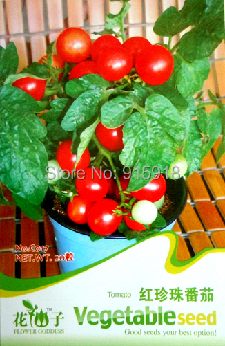 Buy 2 Get 1!(Can accumulate ) 1 Pack 20+ Seeds Heirloom Healthy Vegetable Mini Cherry Red Gem Tomato Seeds C017(China (Mainland))