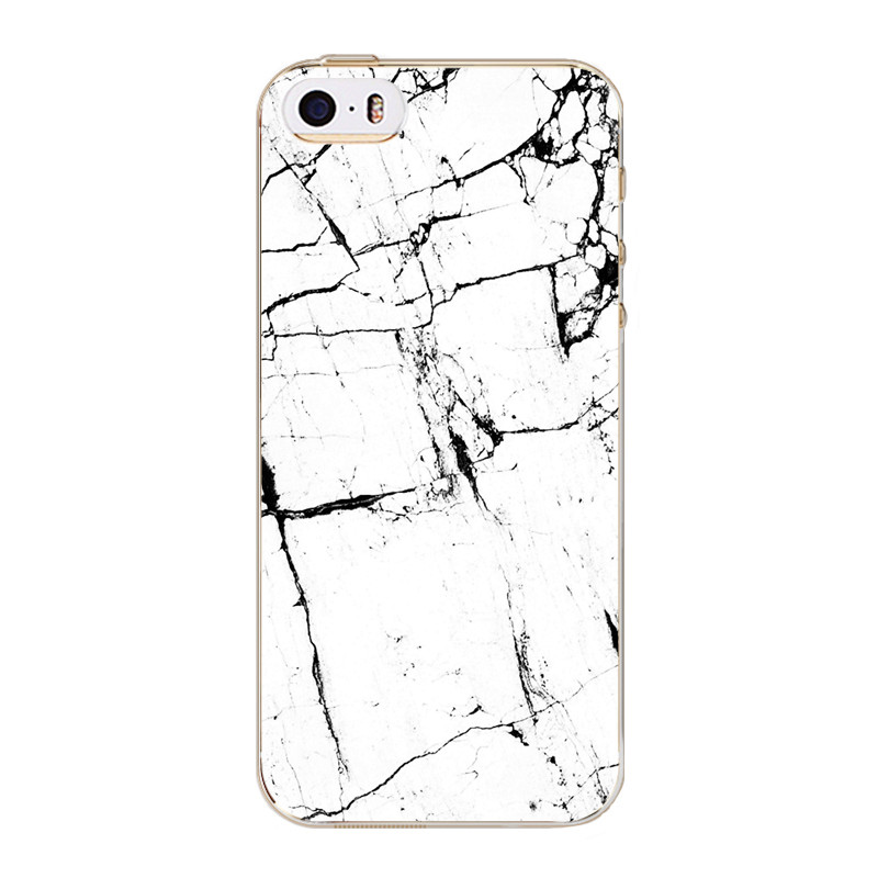 For iPhone SE 5 5S Phone Back Skin Covers Marble Stone image Pattern Luxury Soft TPU Silicon Mobile Phone Bags Oil Painting