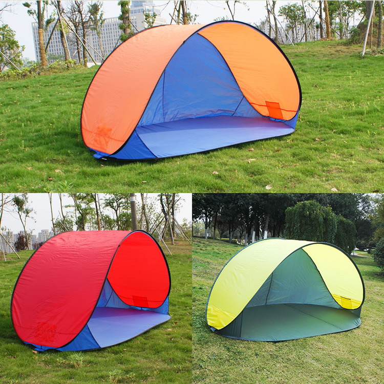 Authentic automatic Beach outdoor tents 3-4person speed drive fast start simple sun shade fishing tent(China (Mainland))