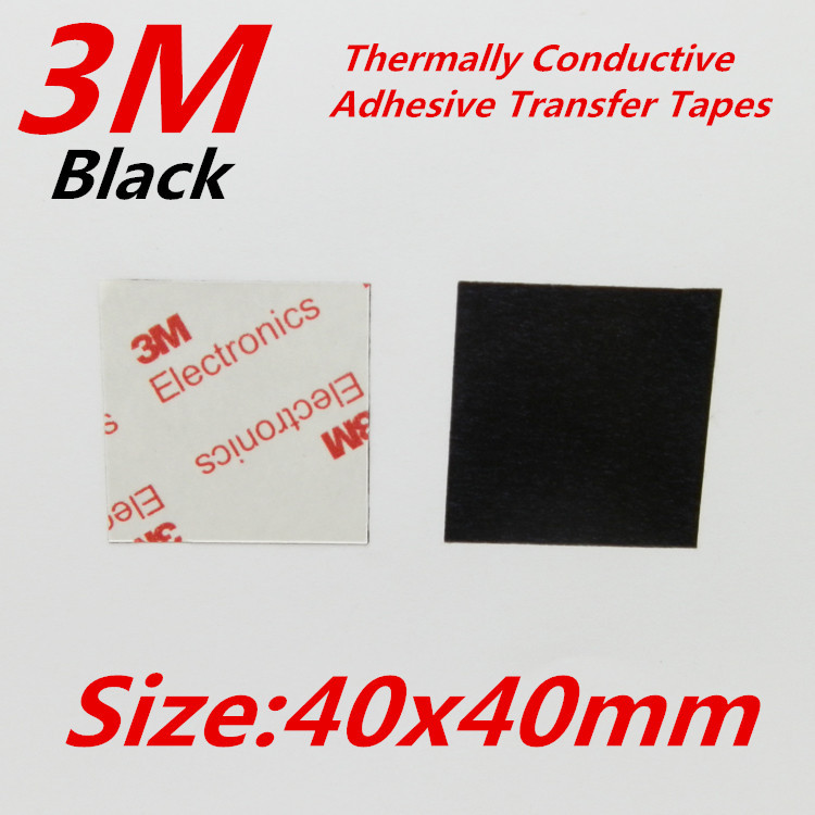 30pcs 3M 40x40mm Thermally Conductive Adhesive Transfer Tapes Double sided stickers for Electronic heatsink(China (Mainland))