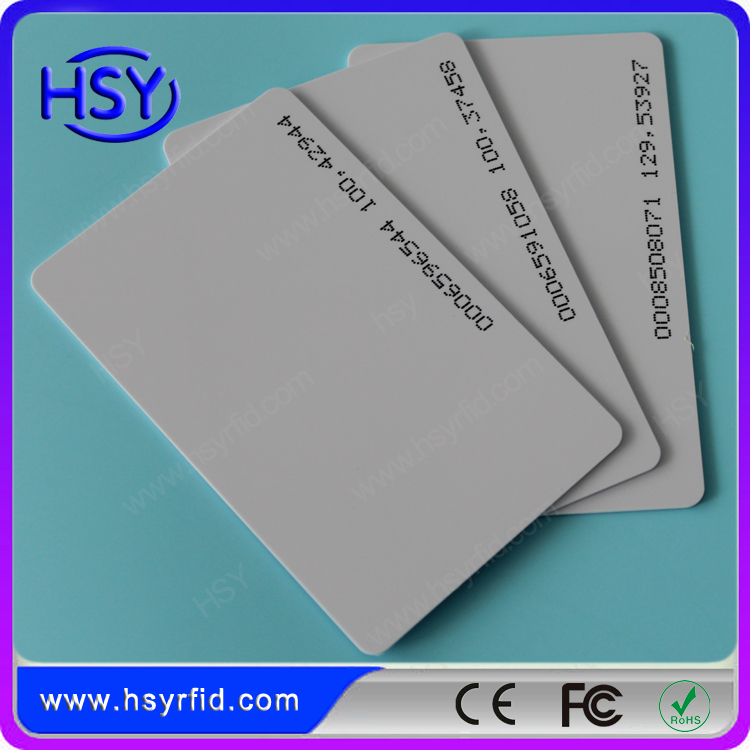 20pcs a lot PVC Material RFID Proximity smart 125khz TK4100 EM ID card with serial number use for access control