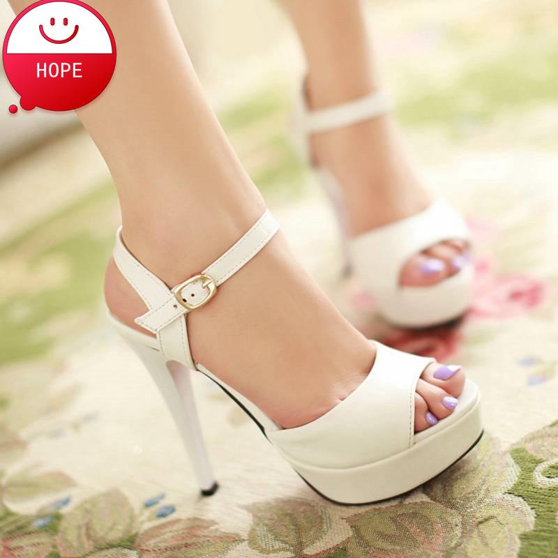 2014 new Sexy Ladies Shoes High Heels Sandals peep toes Platforms Pumps Sandals For Women Buckle Women's Pumps PS1023