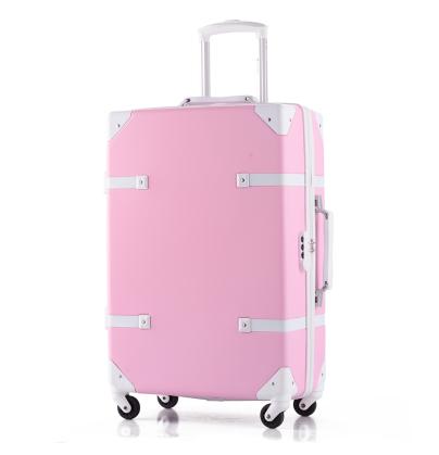 !Abs travel bag trolley luggage vintage universal wheels luggag14 20 24 28 female bags,korea fashion set
