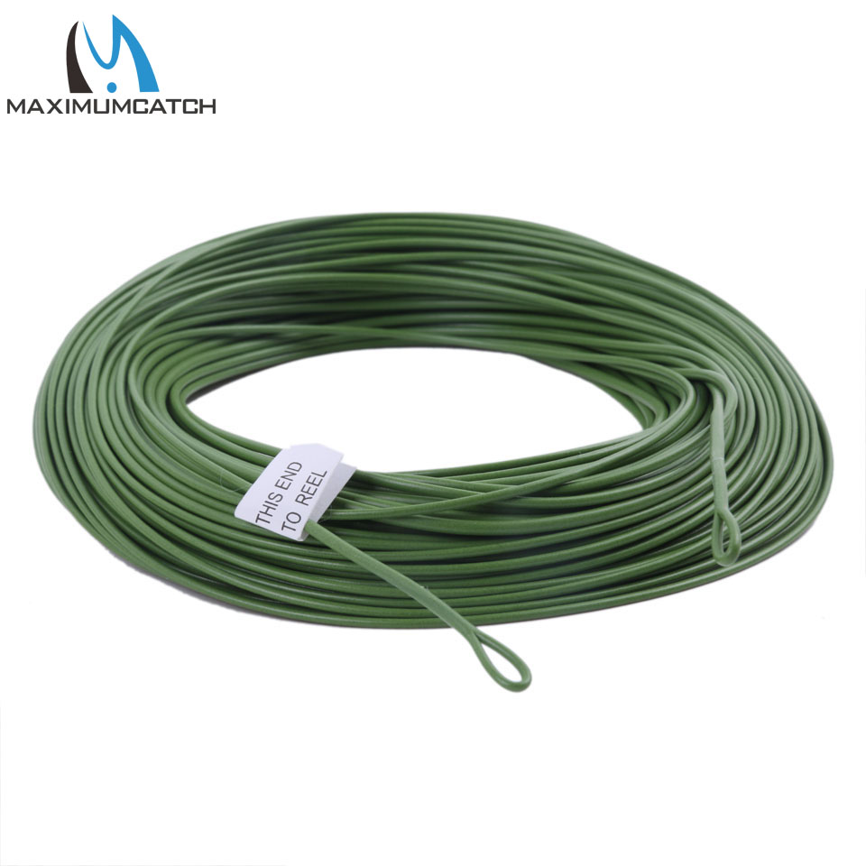 Maximumcatch 100FT 12WT Weight Forward Floating Fly Fishing Line With 2 Welded Loops Fly Line(China (Mainland))