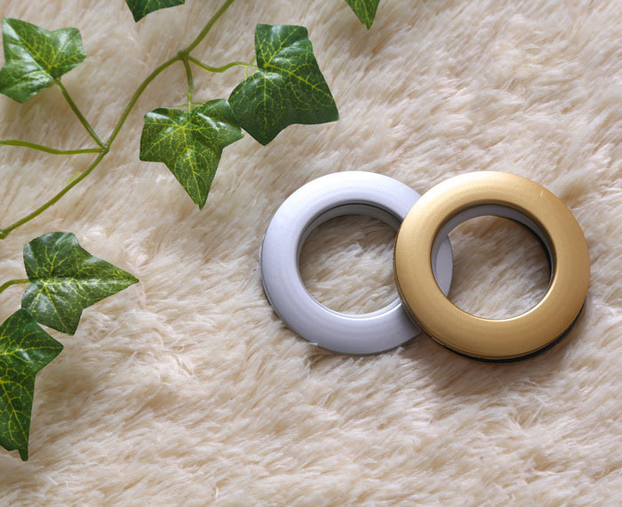 90 sets High Quality Curtain Accessories Ring Rome Pole Grommet For Curtains Variety Of Colors Round The Mute Design(China (Mainland))