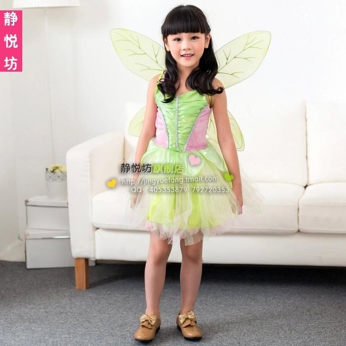 Cosplay Elfin Tinker Bell Young Girl Costume Childrens Wear Evening DressОдежда и ак�е��уары<br><br><br>Aliexpress