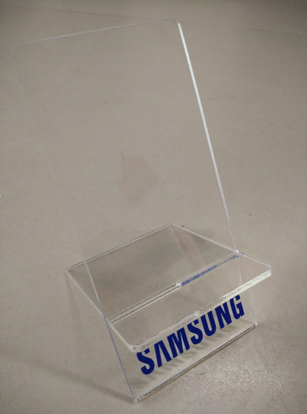 Free Shipping 10PCS Clear Acrylic Large screen Mobile cell phone display stand holder racks for Samsung(China (Mainland))