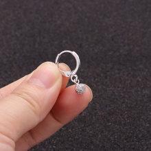 1 pc Boho Dainty Hoop Mit Kleine Cz Ohrring Kristall Kreuz Blume Stern Herz Flügel Ohr Piercing Schmuck Tiny Ohrring(China)