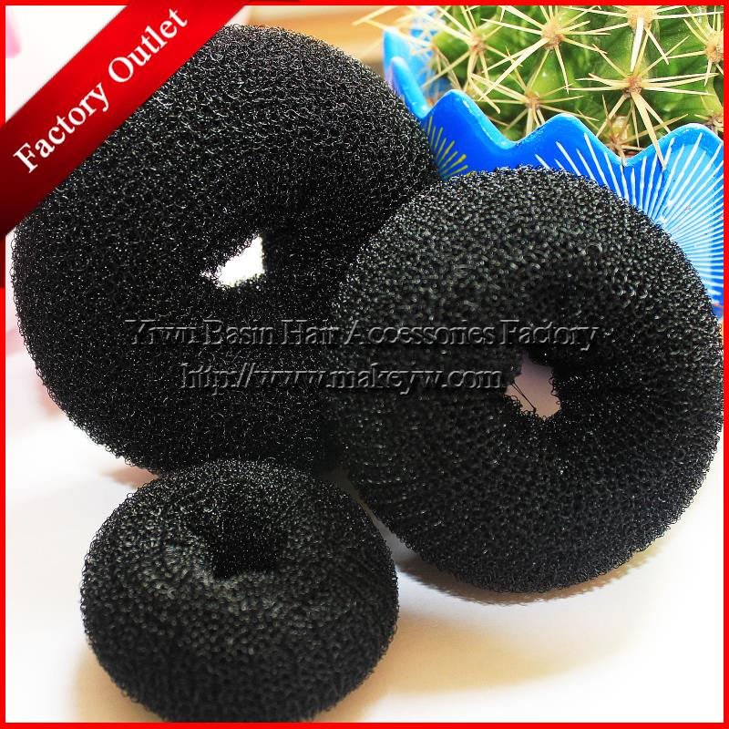 Free shipping 5pcs/lot Good Donut meatball head bud Sponge hair band Fashion Bun Clip 2015 new Foaming Ball Shape Hair Band(China (Mainland))