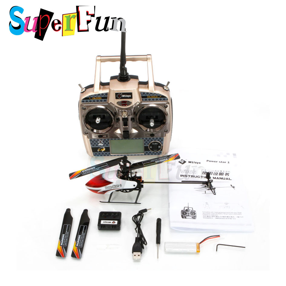Newest Version!!! WL V966# Power Star 2.4G 6CH 3D Flybarless Brush Motor RC Helicopter(RTF). Free Shipping.(China (Mainland))